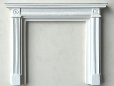 An image of <p>This Regency fire surround is from the room where the Price Regent secretly married Mrs Fitzherbert in the Brighton Pavilion. Click enlarge to see it with PF22_SET 1, priced seperately. It can also be used with brick back BB3D.</p>